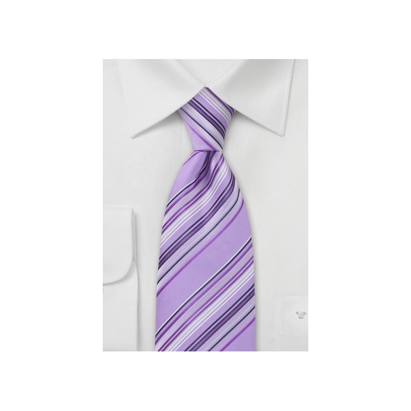 Amethyst Purple Striped Tie