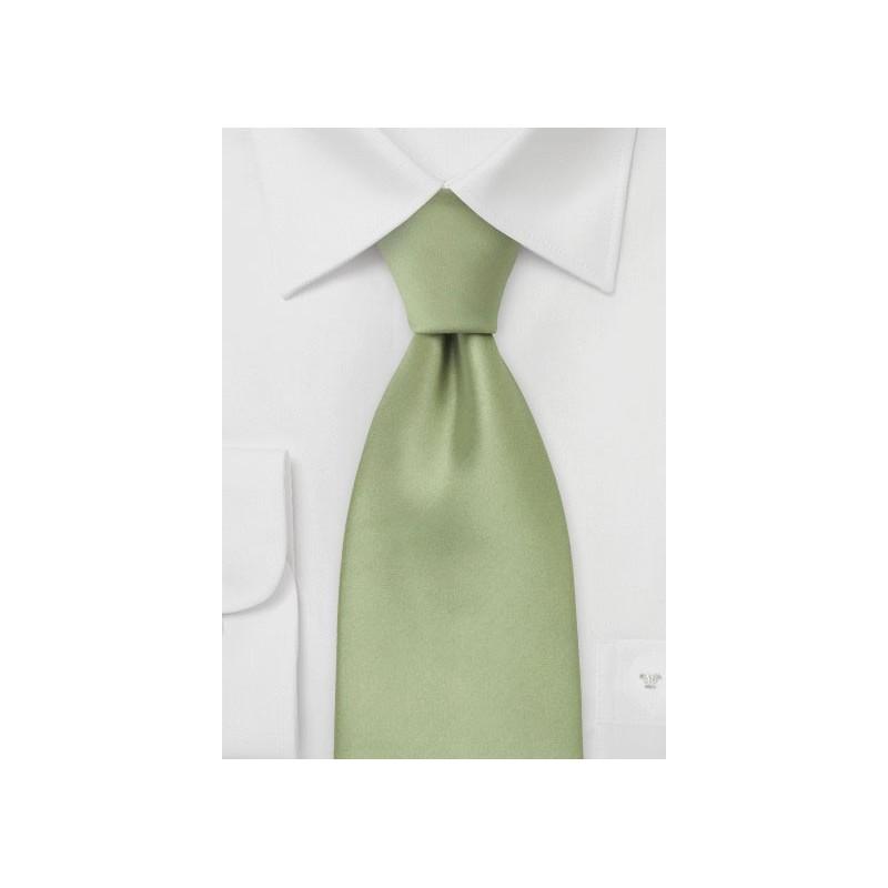Solid Tea Green Kids Tie