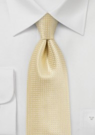 Light Yellow Kids Silk Tie