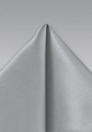 Silver Gray Silk Pocket Square