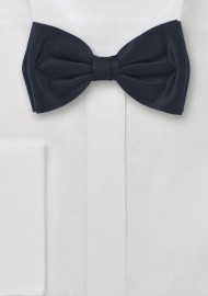 Charcoal Gray Silk Bow Tie