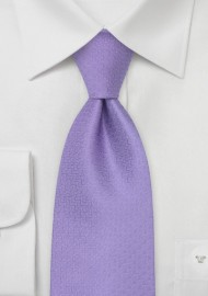 French Designer Tie in Lavender