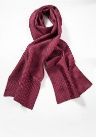 Diamond Pattern Red Scarf