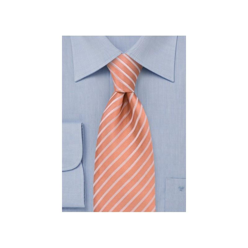 XL Salmon Color Silk Tie