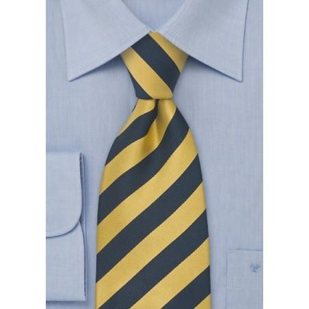 XL Necktie in Yellow and Navy