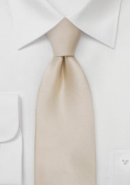 Kids Silk Tie in Champagen