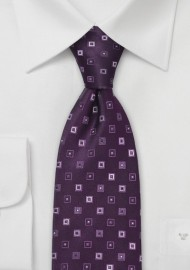 Eggplant Purple Designer Tie