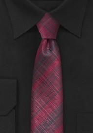 Cherry Red Skinny Tie