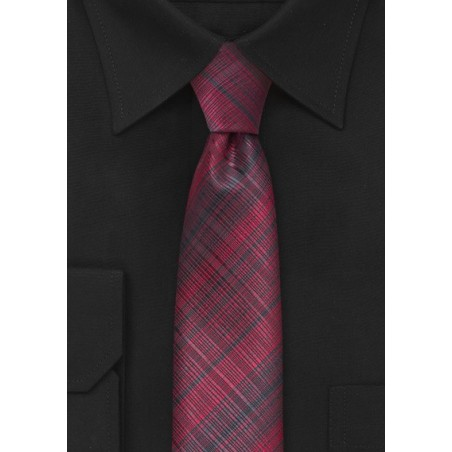 Cherry Red Skinny Tie