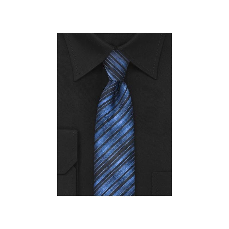 Blue and Black Skinny Tie