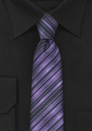 Skinny Necktie in Purple