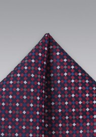 Red White Blue Pocket Square
