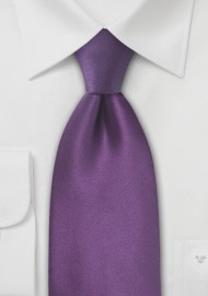Violet Purple Silk Tie