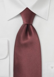 Solid Silk Tie in Chestnut Brown