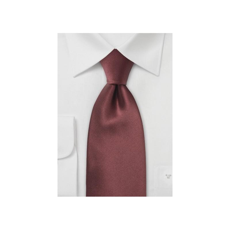Solid Silk Tie in Chestnut Brown