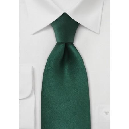 Solid Bright Hunter Green Silk Tie