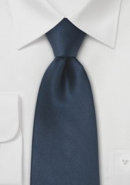 Dark Navy Blue Mens Silk Tie