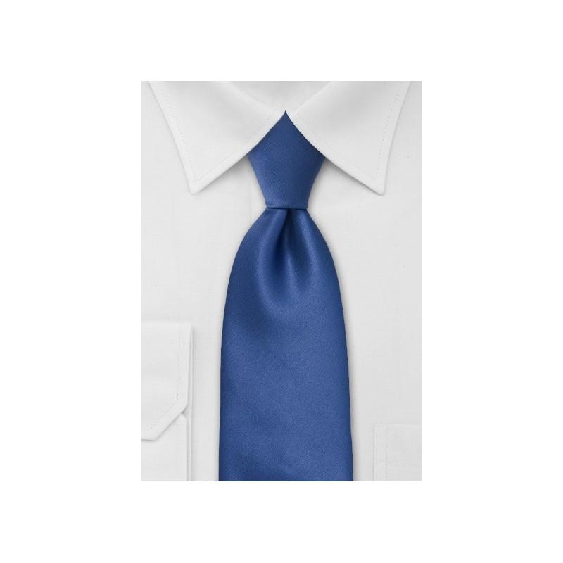 Solid Cobalt Blue Necktie