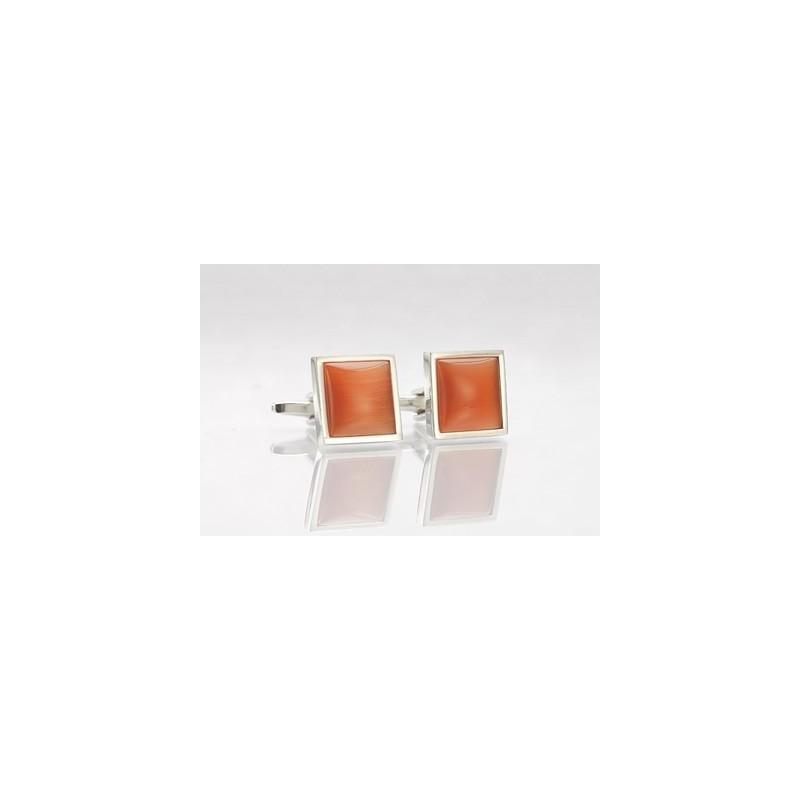 Orange and Silver Cuifflinks