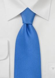 Solid XL Tie in Bright Blue