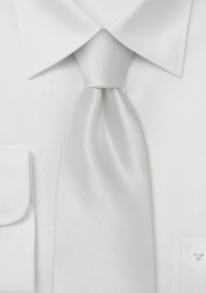 Formal Solid White Tie in XL