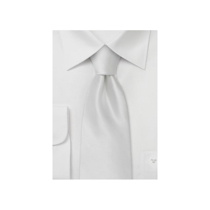 White Silk Tie in Kids Length