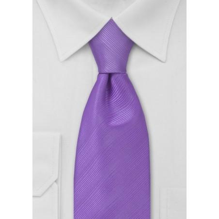 Solid Lilac Mens Tie