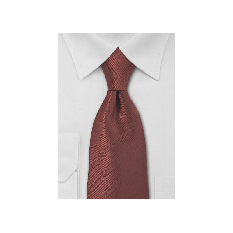 Bronze Red Mens Necktie