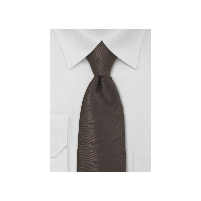 Coffee Brown Mens Tie