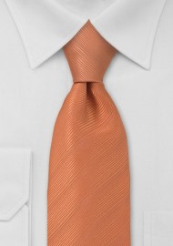 Solid Orange Mens Tie