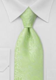 Pale Mint Green Paisley Tie