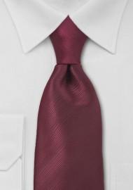 Bordeaux Red Necktie