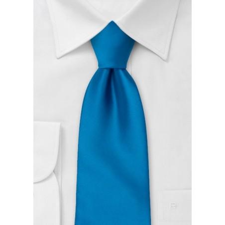 Extra Long Bright Blue Tie