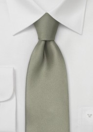 Dark Sage Green Silk Tie in XL