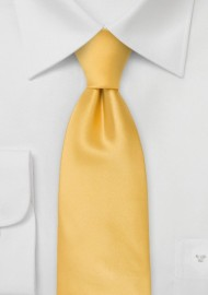 Bright Yellow Clip On Necktie