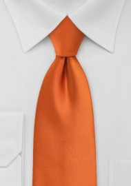 Persimmon Orange Clip-On Tie