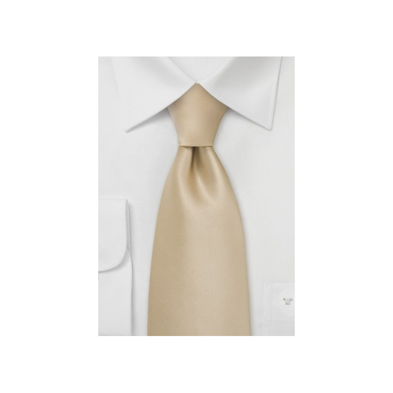 Solid Champagne Color Tie