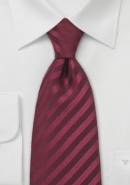Berry Red Silk Tie