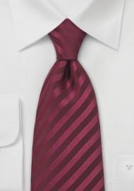 Berry Red Silk Tie