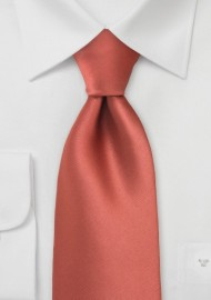 Cognac Orange Mens Necktie