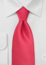 Bright Lollipop Red Necktie