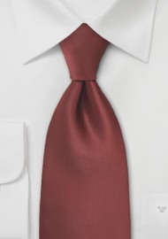 Dark Cognac Brown Tie