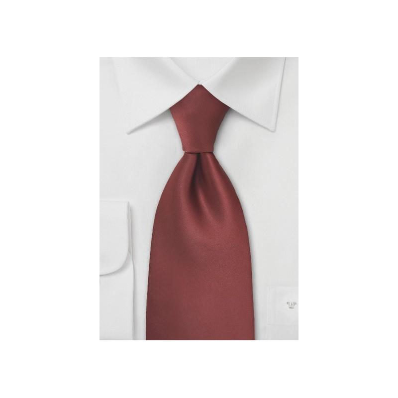 Dark Cognac Brown Tie