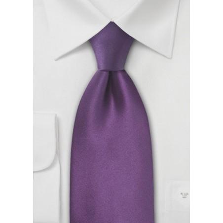 XL Violet Purple Silk Tie