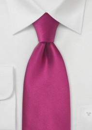 Solid XL Silk Tie in Hot Pink