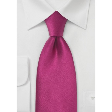 Solid XL Silk Tie in Hot Pink