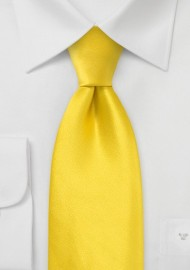 Kids Silk Tie in Canary Yellow