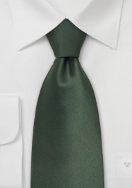 Dark Green Kids Silk Tie