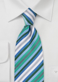 Trendy Mens Tie with Narrow Stripes