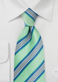 Pastel Green and Blue Tie